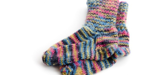 Socken stricken mit Bumerangferse – Teil 1